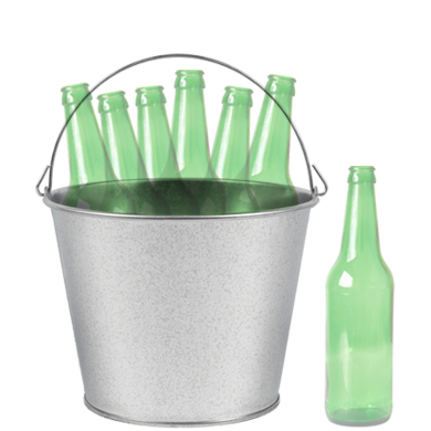 wholesale ice metal buckets 5 qt. image
